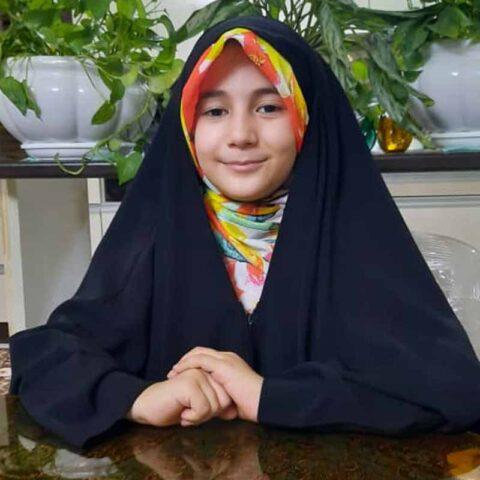 زهرا قربانی هنرجوی نقاشی فاطمه لطیفی ۸ ساله از تهران
