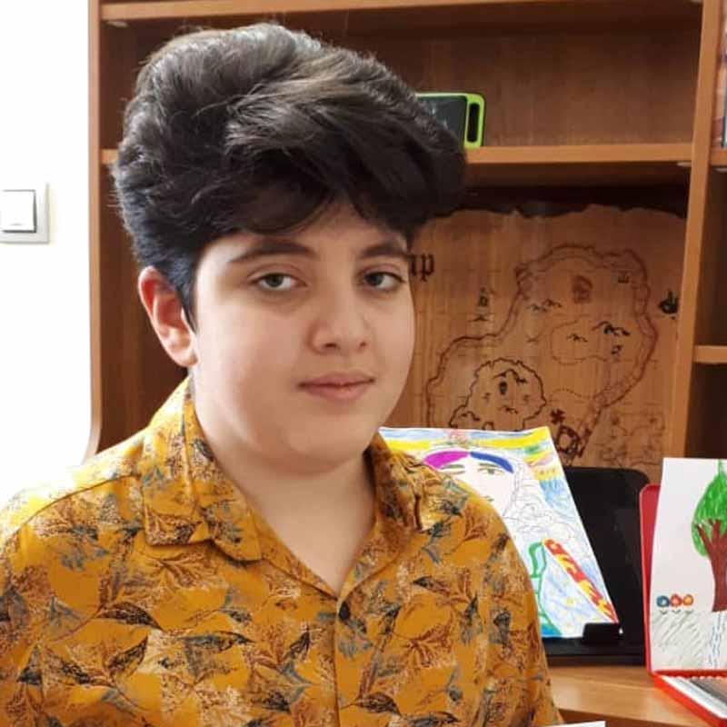 محمدحسین خانی هنرجوی نقاشی فاطمه لطیفی۱۲ ساله از شیراز